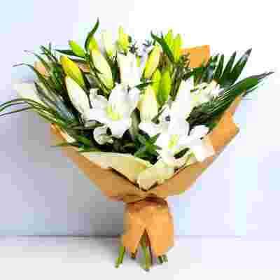 Dreamy Pure White Lilies