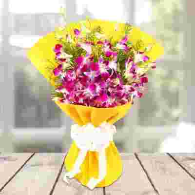 Orchids Beauty In Yellow Bright Wrapping
