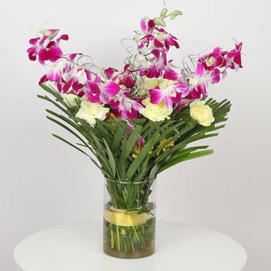 Awesome Orchids N Carnations Combo
